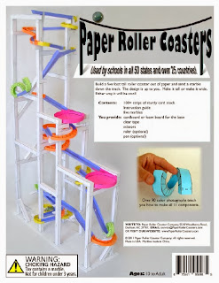 The hemulen 39 s dress building a roller coaster for Paper roller coaster loop template