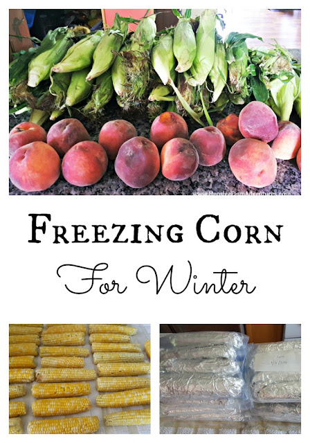 Freezing Corn for Winter  www.HensleeFarmAdventures.com