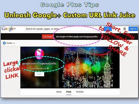 Google+ Custom Url Tips: http://www.surgeyourprofits.com/2014/03/do-i-need-google-custom-url-why.html