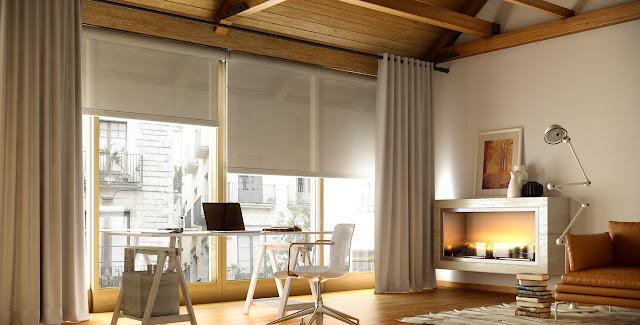 Se llama estilo elegir las cortinas perfectas for Estores puerta balcon