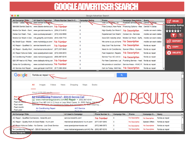 Google Advertiser Campaigns Search