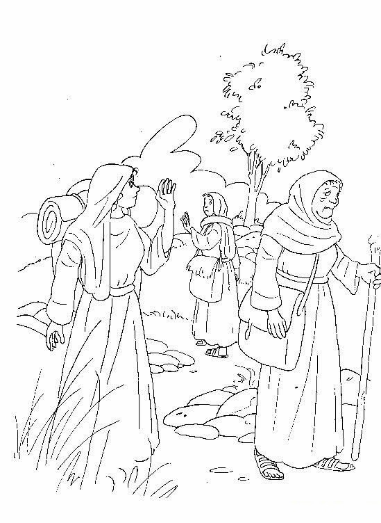 El Renuevo De Jehova: Rut y Noemi - Imagenes para colorear ...