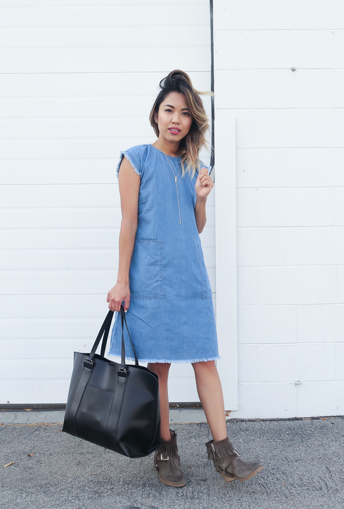 Nordstrom Anniversary Sale Denim Shift Dress