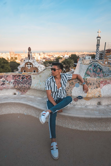 Summer Outfit - Wearing Stripes in Barcelona