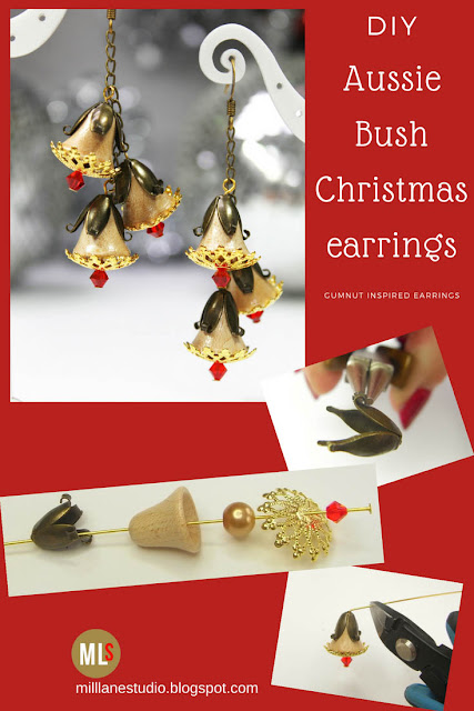 Aussie Bush Christmas earrings project sheet
