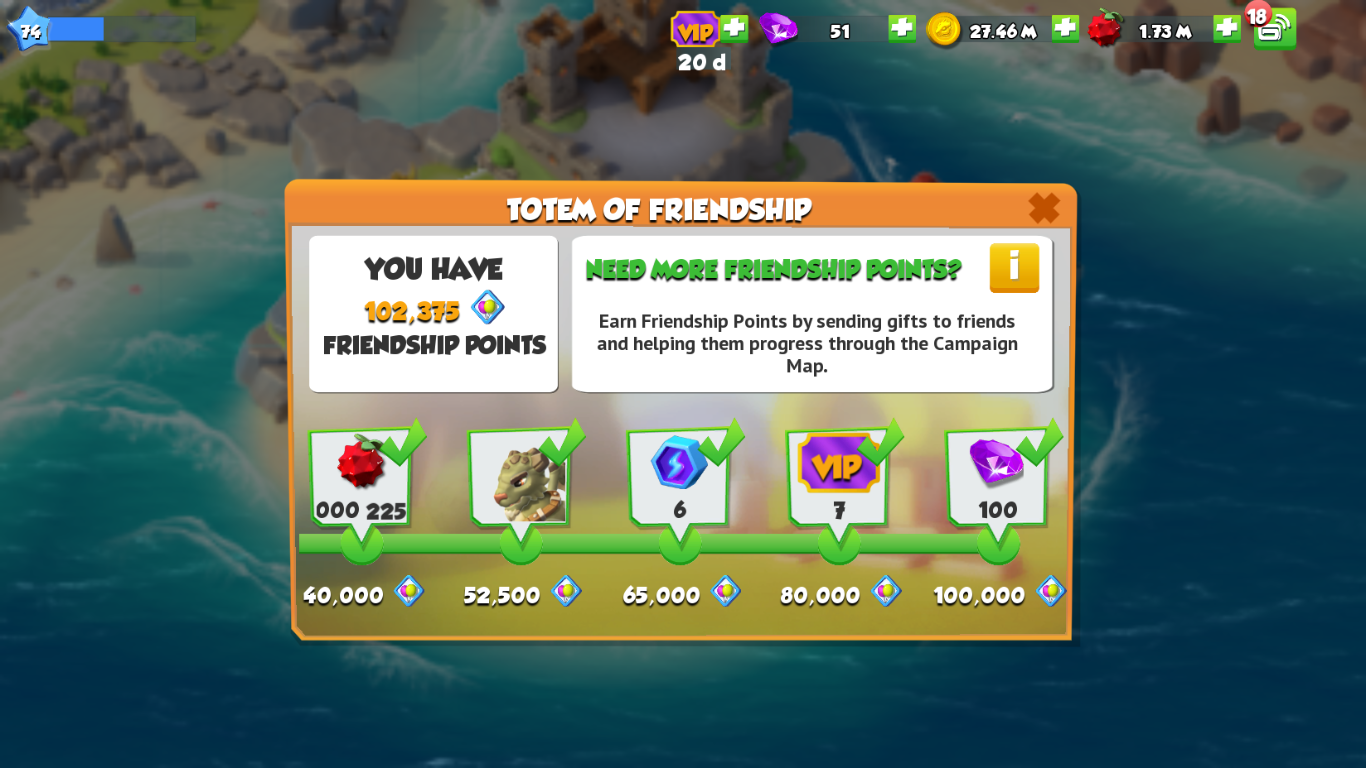 Easiest Way To Complete Totem of Friendship Milestones In Dragon