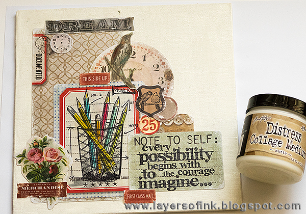 Layers of ink - Distress Crayon Canvas Tutorial by Anna-Karin