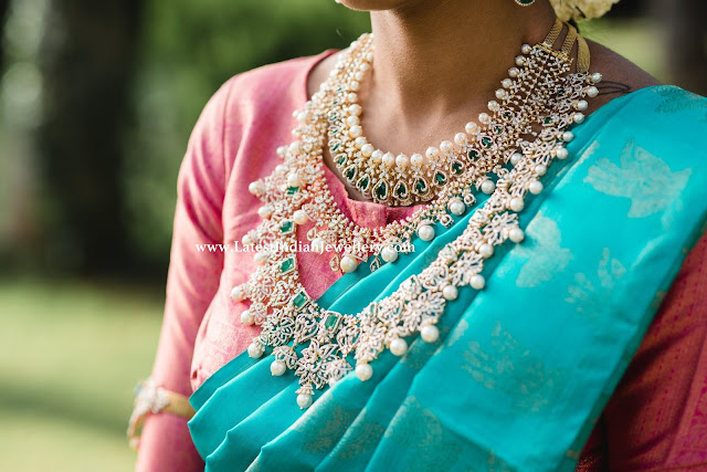 Layered Diamond Necklaces for Bride