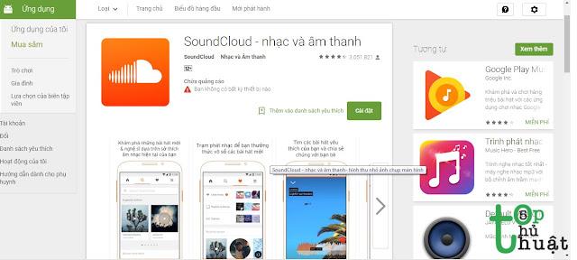 Phần mềm nghe nhạc miễn phí : SoundCloud