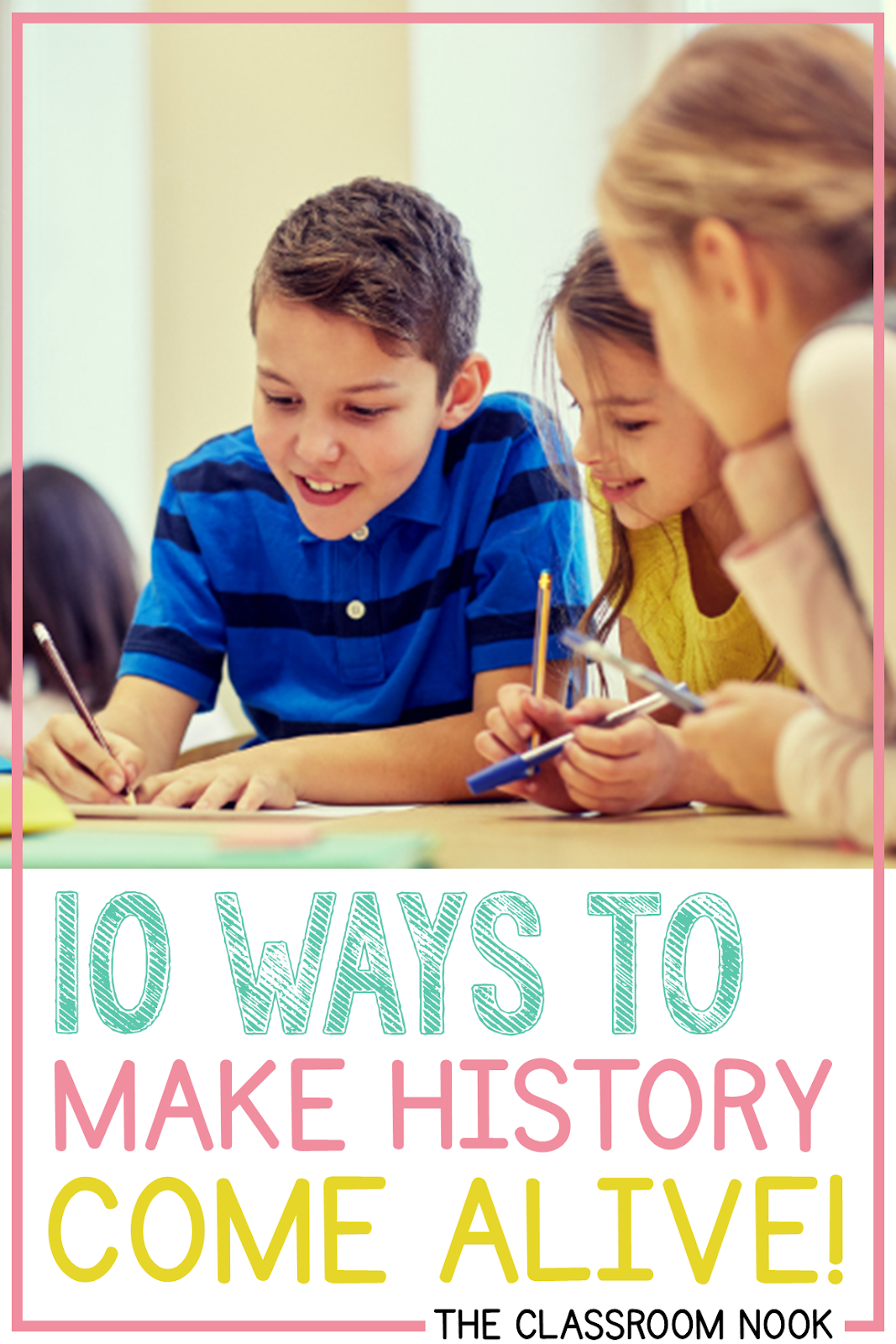 Try one of these ways to make history come alive in your upper elementary classroom #upperelementary #teachingsocialstudies #socialstudies #thirdgrade #fourthgrade #fifthgrade