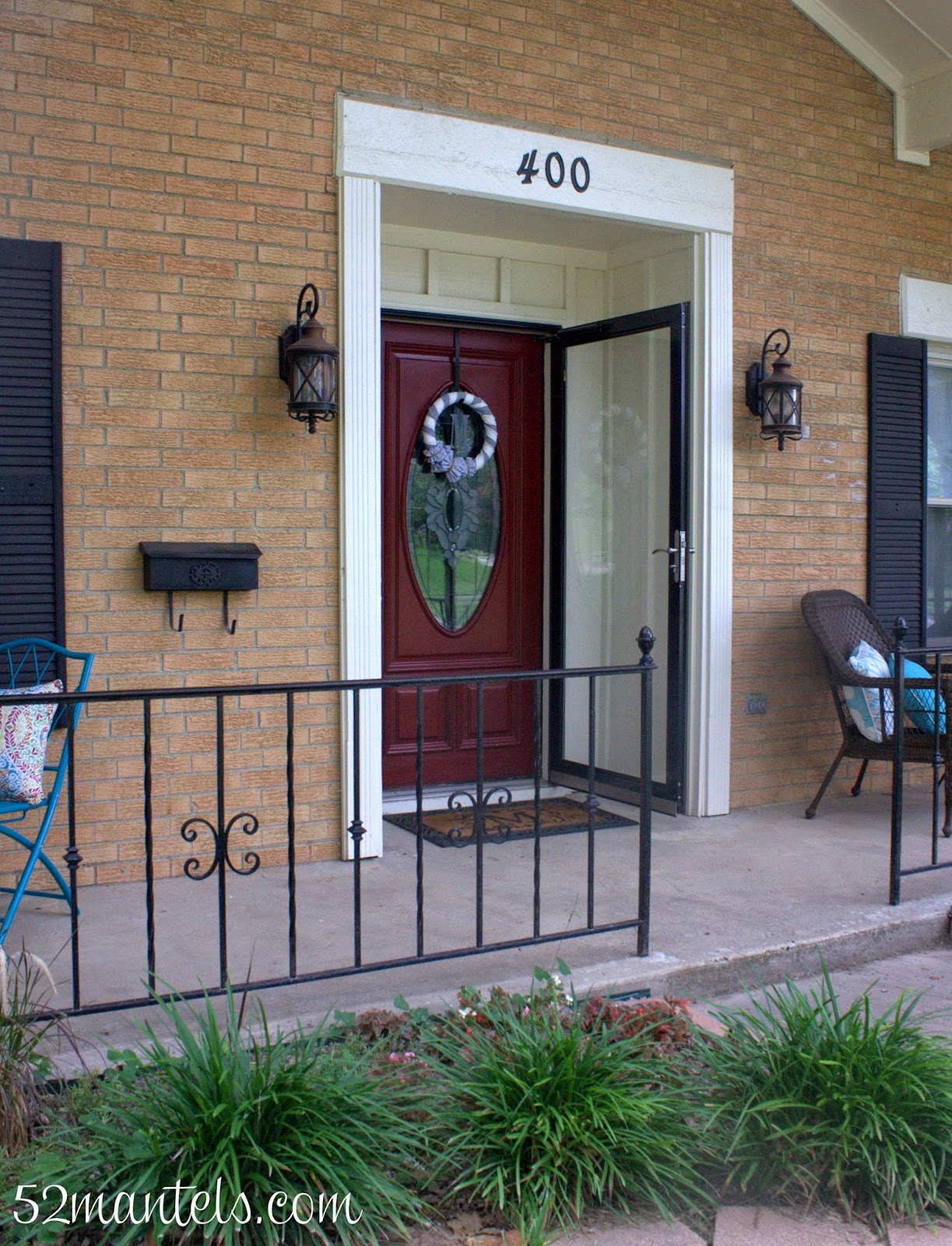 52 Mantels A New Red Door Front Porch Inspiration