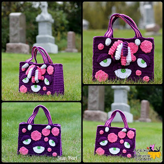 Purple Monster tote by Articles of a Domestic Goddess