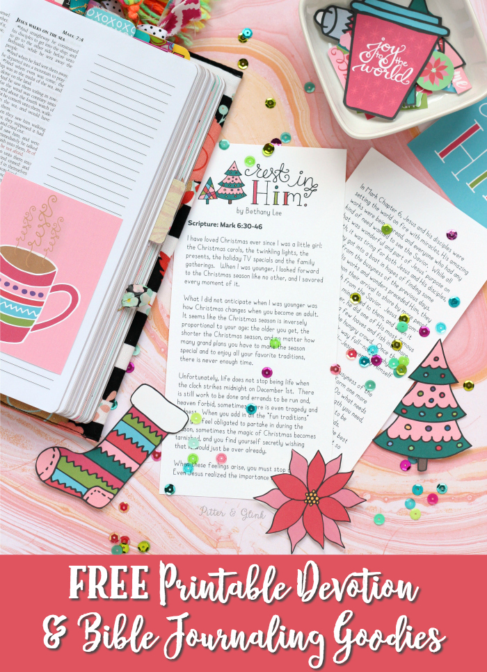 Free Printable Christmas Devotion + Bible Journaling Goodies