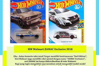 HW Walmart Zamac Mini Series 2018 List