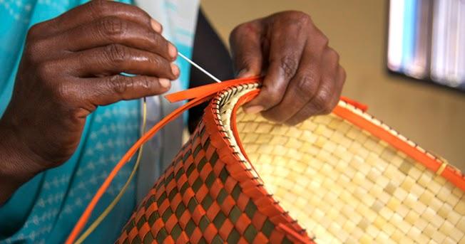 Colourful Kottan Baskets from Chettinadu in TamilNadu, India