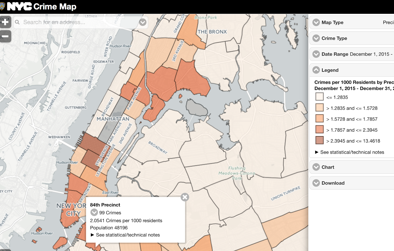 Nyc Map It.Heavens To Mergatroyd Nyc Crime Map