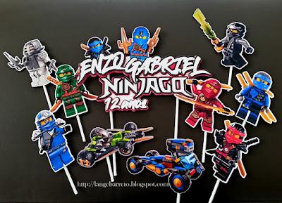 Topo para bolo - Tema Ninjago