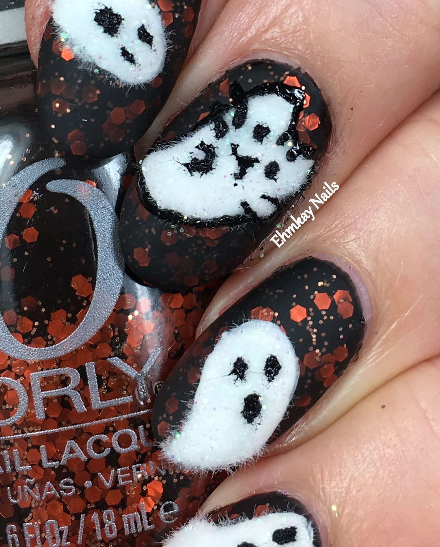 Ehmkay nails 13 days of halloween nail art pusheen calendar 13 days of halloween pusheen calendar series october 2017 ghost pusheen prinsesfo Gallery