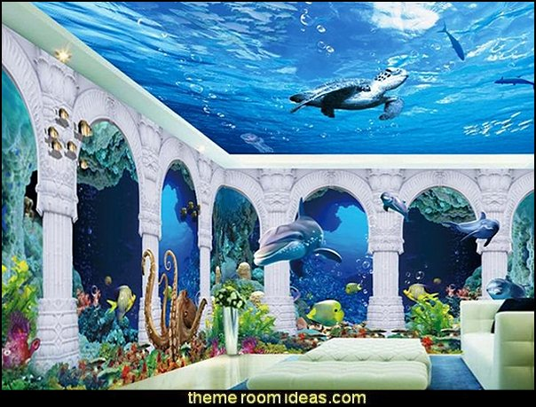 Decorating Theme Bedrooms Maries Manor Underwater Bedroom Ideas Mermaid Bedroom Decor Under The Sea Theme Bedrooms Mermaid Theme Bedrooms Underwater Bedroom Decor Clamshell Bed Sea