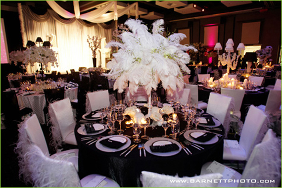 black and white wedding reception decorations wedding inspiration center 2012 black and white 1828