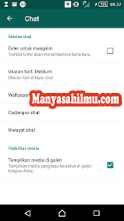Cadangkan data Chat di WhatsApp