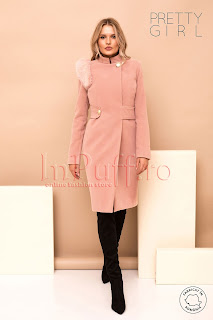Palton dama Pretty Girl roz prafuit