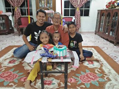 Family,sambut hari lahir anak sedara