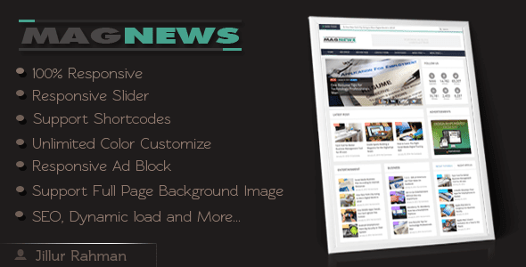 MagNews Template Free download
