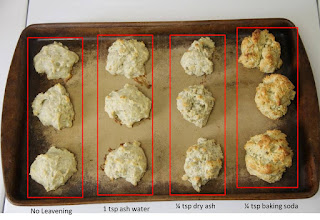 Ash and ash water biscuits, THL recipe, top view