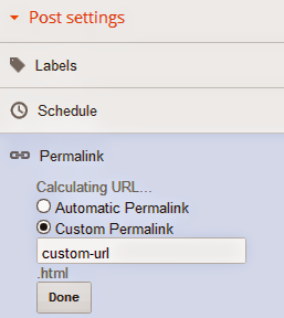 how to optimize permalink in blogger