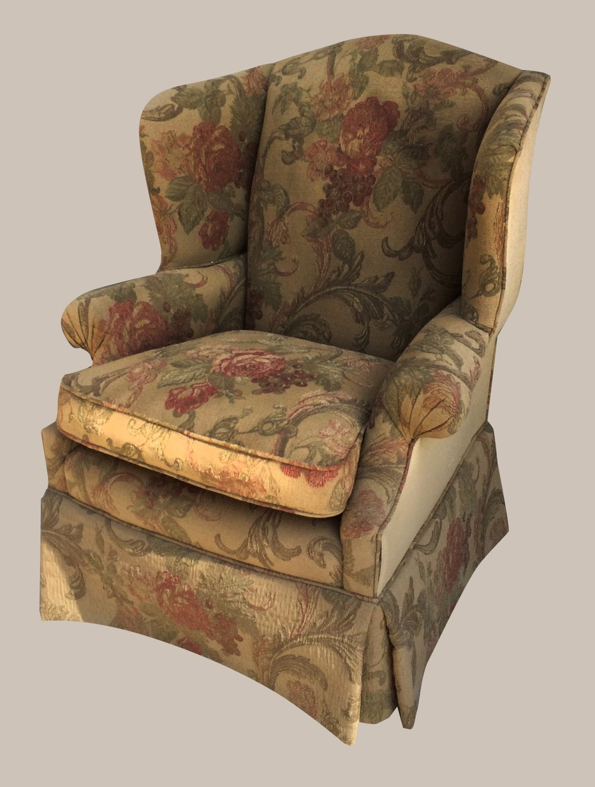 Floral Wingback Chair Uhuru Furniture And Collectibles Floral Wingback 125 Sold