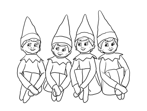 coloring pages elf | Little Lids Siobhan