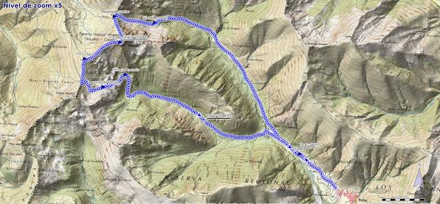 Mapa de la Ruta al Mustallar desde Burbia