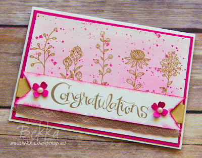 Flowering Fields Congratulations Card featuring products you can get for free from 5 January 2016 - details here