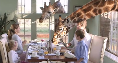 Breakfast at Giraffe Manor     Sunday, 23 August 2015