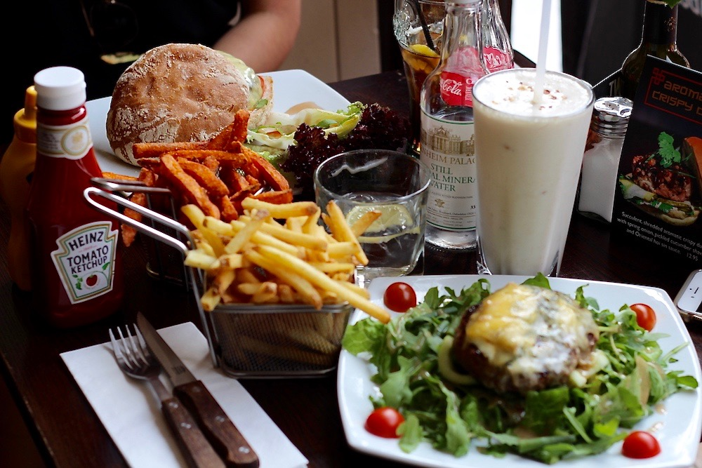 Haché Burger restaurant london chelsea meal