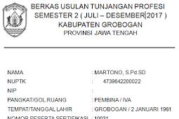 Surat Penyataan Tanggung Jawab Mutlak (SPTJM) Pencairan Tunjangan Sertifikasi Juli s.d Desember