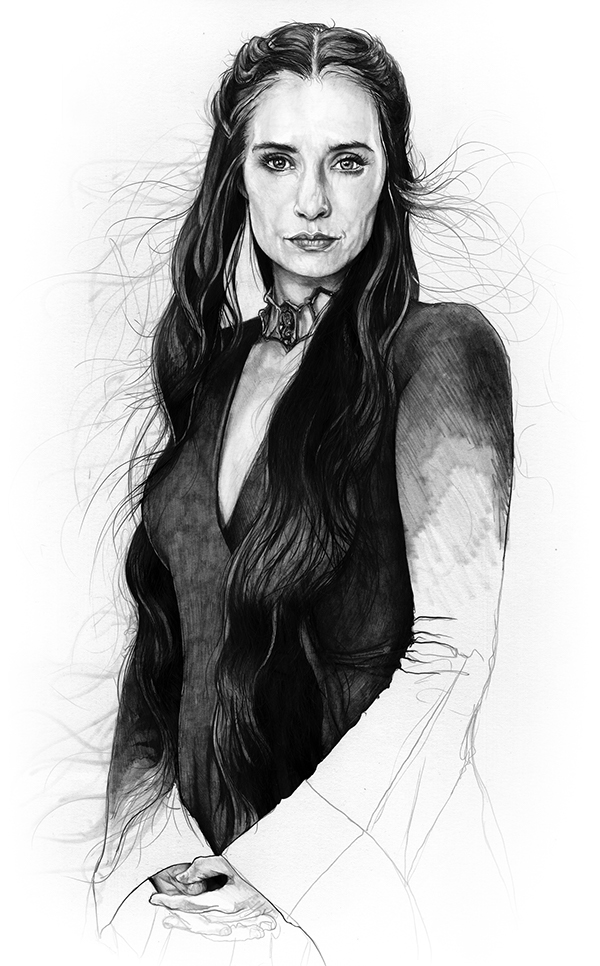 05-Carice-van-Houten-Melisandre-Corbyn-S-Kern-Game-of-Thrones-Star-Trek-and-Star-Wars-Character-Drawings-www-designstack-co