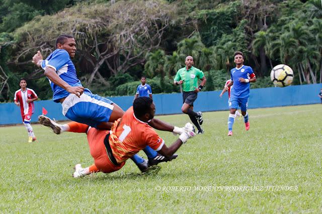 juego amistoso de fútbol, categoría sub-20, entre las selecciones de Cuba y República Dominicana, en el estadio Pedro Marrero, en La Habana, el 28 de noviembre de 2017.