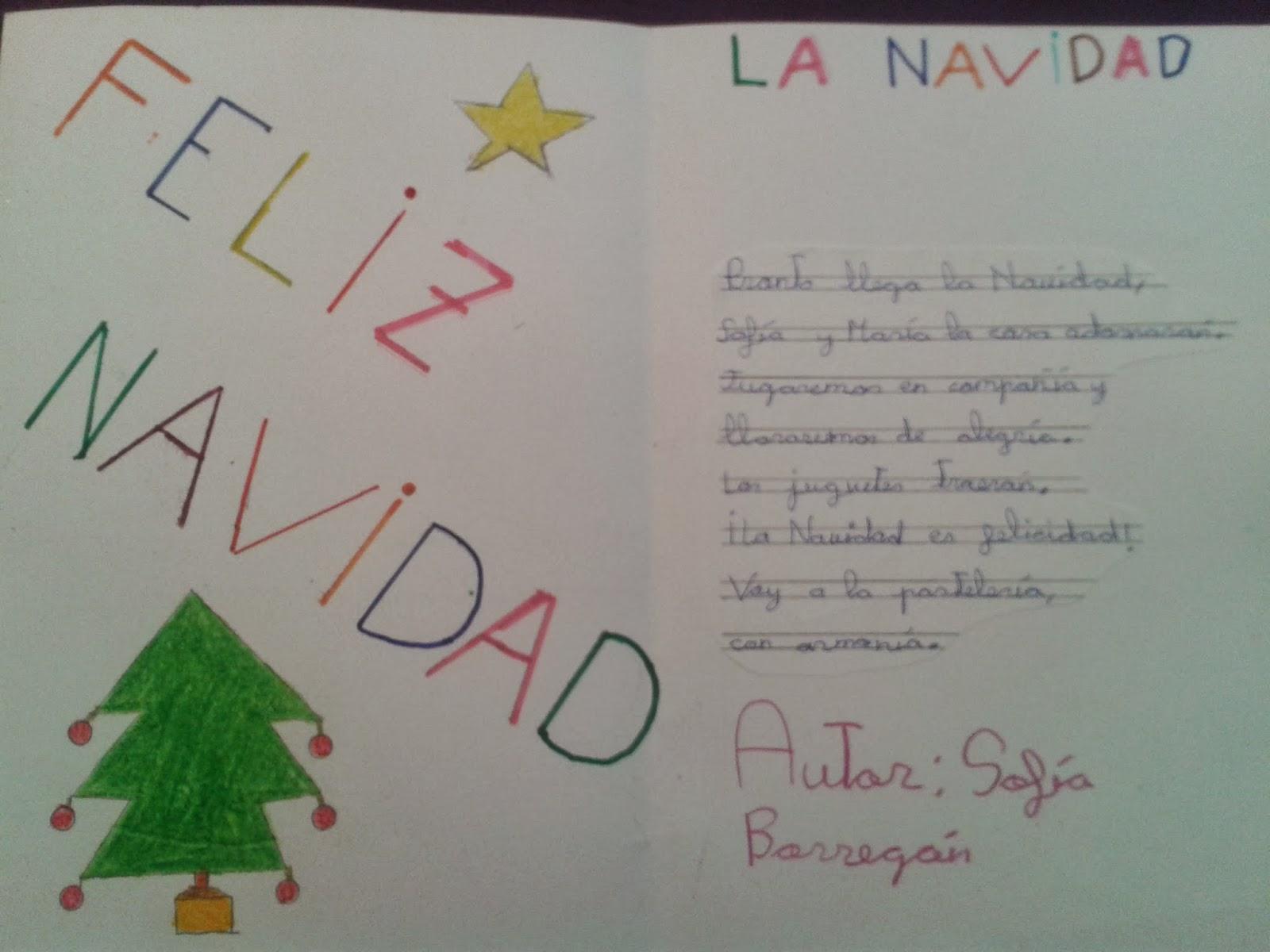 Tarjetas Con Poemas De Navidad Recital Poético Palabras Azules