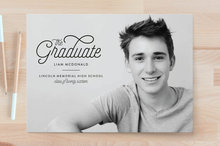 graduation photo cards for Minted