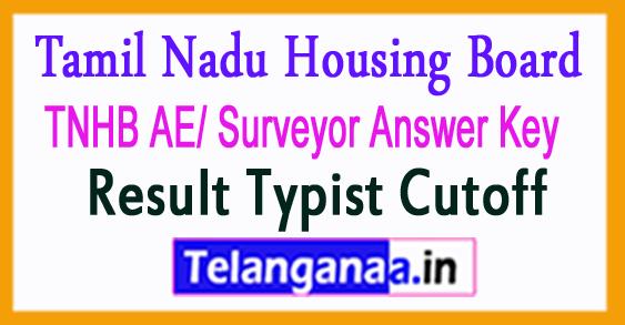 TNHB AE/ Surveyor Answer Key 201 Result Typist Cutoff