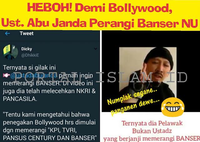 TERKUAK !!!! Abu Janda Al Bollywoodi Ternyata Ingin PERANGI Banser NU