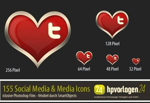 30 Valentine Social Icons