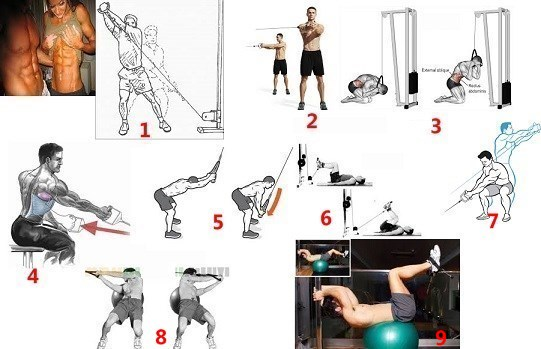ab exercises on cable machine