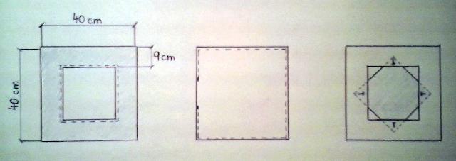 Střih na dekorativní polštář 40x40 cm