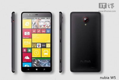 ZTE Siap Luncurkan Nubia W5, Smartphone Ber-OS Windows Phone 8.1