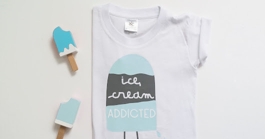 Le Petit Rabbit: [KIDS&GRAPHIC] Le Ice Cream t-shirt in collaborazione con Filo.vero