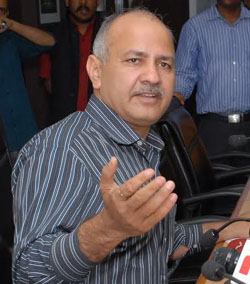 Dangerous precedent being set by the office of LG: Sisodia