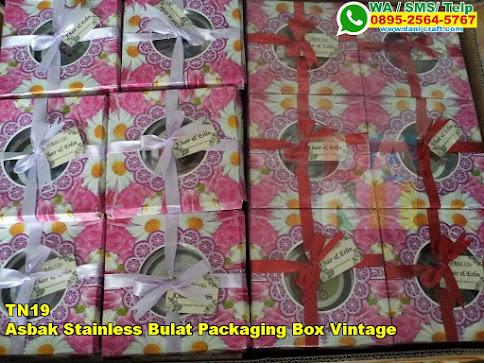 Toko Asbak Stainless Bulat Packaging Box Vintage
